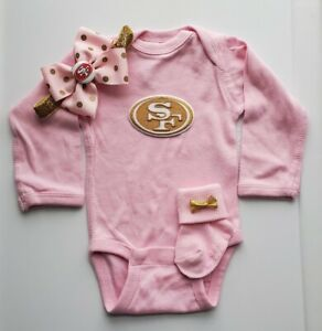 49ers baby/newborn girl 49ers baby gift girl  San Francisco football baby girl