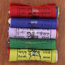 "50 pieces 3""x3"" Tibetan Buddhist polyster prayer flags mantra print wind horse"