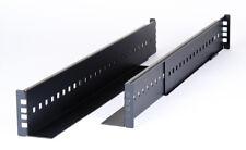 """19"""" Universal 2U Schwerlast-Schienen Rack Rails - längenverstellbar 62cm - 85cm"""