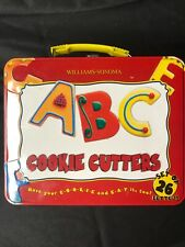 ABC Cookie Cutter Set And Collector Tin Lunch Box Williams-Sonoma