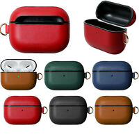 Cowhide Leather Bag Case Cover Shell for Apple AirPods Pro Wireless Earphones