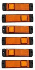 6 x LED Seite Umriss Marker Lichter orange Lampen LKW Kipper Bus Anhänger Krone