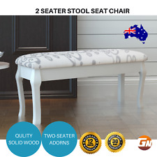 Wooden Cushioned 2-Seater Stool Seat Chair Bench 110cm Dressing Table Chair
