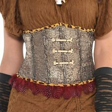 Ladies Voodoo Queen Witch Doctor Corset Waist Clincher Fancy Dress Accessory