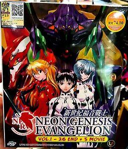 Neon Genesis Evangelion (VOL.1 - 26 End + 5 Movie) ~ All Region ~English Version