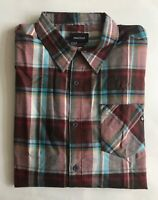 $75 NWT Mens Marmot 64950 Doheny Flannel Long Sleeve Button Down Shirt Brick XXL