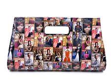 Oversized Michelle Obama Clutch/handbag/Tote Magazine Cover Collage. (Vegan)