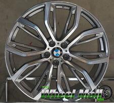 "22"" BMW X5 X6 Rims X6M X5M Gunmetal Staggered Wheels"