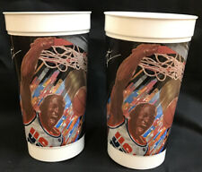 Lot of 2 Michael Jordan 1992 Olympic Dream Team McDonald's Cups Chicago Bulls