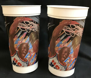 Lot of 2 Michael Jordan 1992 Olympic Dream Team McDonald's Cups Chicago Bulls
