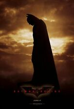BATMAN BEGINS Christian Bale Original Double Sided 27x40 Movie Poster 2005 - B