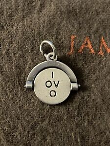 James Avery Retired I Love You Spinner Charm Sterling Silver
