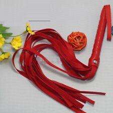RED PU Leather Tails Flogger whip Black Whip Flogger UK seller