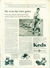 "Original Keds Sneakers Shoes  ""Big Leaguer"" ""Mercury"" Baseball Ad 1930"