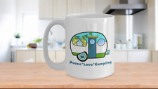 Peace Love Camping Vintage Camper Coffee Cup Gift