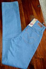 NEW Levi`s Curve ID Straight demi curve jeans Coupe Droite Blue W25 L34 RRP £75