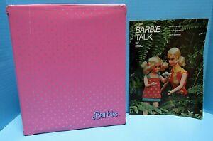 VINTAGE 1985 BARBIE FASHION DOLL CASE AND 1970 BARBIE TALK MAGAZINE - VG COND.