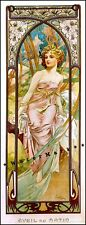 Morning 1899 Times Of Day Vintage Poster Print Art Deco Nouveau