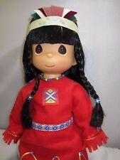 "Precious Moments Mornings First Light Pocahontas 13"" Native American Doll NEW"