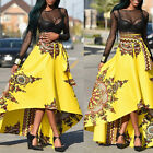 africaine femmes été Boho imprimé floral robe longue taille haute plage jupe