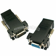 5 Pair VGA Extender Male Female to LAN RJ45 CAT5 CAT6 Network Cable Adapter