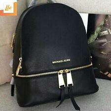 MICHAEL KORS Black Rhea Medium Leather Backpack RRP £285
