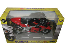 SUZUKI GSX 1300 R RED/BLACK 1/12 MOTORCYCLE MODEL BY AUTOMAXX 600202
