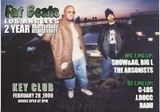 Rare Indie Hip Hop Show & AG Fat Beats LA Promo Sticker 1999 Fat Joe Big L DITC