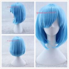 Madoka Magica Miki Sayaka Sailor Moon Sailor Mercury short blue cosplay wig