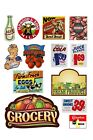 1:87 HO scale model grocery store signs