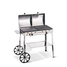 Barbecue ghisa Ferraboli 95 a gas stereo acciao inox braciere 2 piastre - Rotex