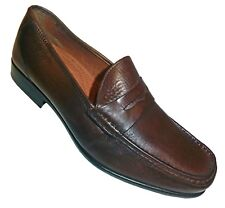 Alfani Cameron Mens Leather Penny Loafers Brown Size 11 M