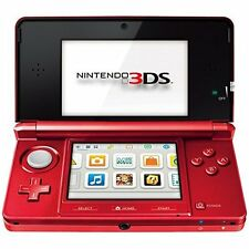 Nintendo 2200249 Console 3DS Metallic Red Very Good Portable System 6Z
