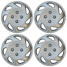 "Hub Cap ABS Silver 13"" Inch Rim Wheel Skin Cover Center 4 pc Set Caps Covers"