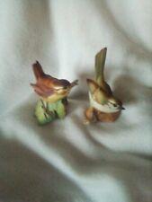 Bird Figurine Two  Warblers  ITALY