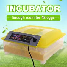 48 Eggs Incubator Digital Hatcher Automatic Egg Turning Temperature Control Led