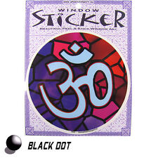 Aum Ohm Aufkleber Fensterbild Meditation Sticker Yoga Mantra Energiebild 11cm