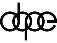 """Audi DOPE decal 6""""X4"""""""