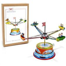 TIN TOY ROCKET RIDE Lever Action Carousel NEW Collectible Metal Litho Retro Cool