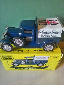 EASTWOOD COMPANY 1931 FORD PICKUP TRUCK DIE CAST BANK 1992 IN BOX