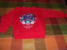 DISNEY VINTAGE RED SWEATSHIRT DISNEYLAND SORCERER MICKEY WHOLE NEW WORLD SIZE 2T