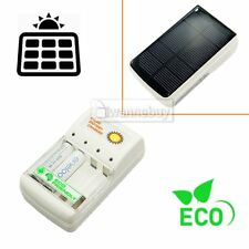 1W Solar Panel Battery Charger 4pc AA or AAA GREEN POWER