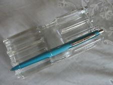 Paper Mate Double Heart Lt . Blue Chrome Trim Contour Ballpoint Pen - Usa