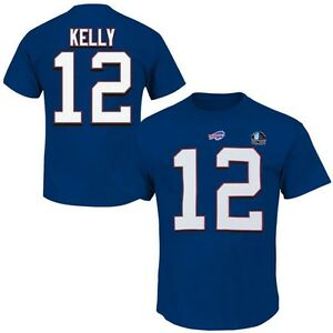 Jim Kelly #12 Buffalo Bills NFL Mens Player Shirt Royal Big & Tall Sizes