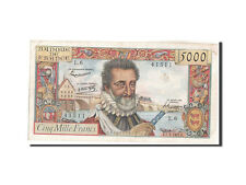 Billets, France, 5000 Francs, 5 000 F 1957-1958 ''Henri IV'', 1957 #209385