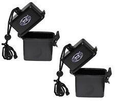 2x kleine wasserdichte BOX Kunststoff Aufbewahrungsbox Schachtel