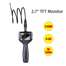 """2.7"""" Industrial Video Inspection Camera Dia 5.5mm Flexible Tube With 1M Cable"""
