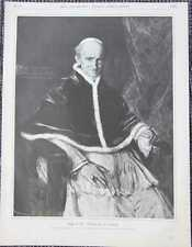 Papa LEO XIII. Vincenzo Gioacchino Pecci chiave in legno di 1885