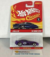 '06 Dodge Viper * Purple * Hot Wheels Classics * WJ8