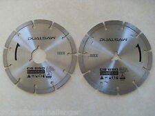 Dual Saw Destroyer CS650 Diamond Replacement Blade Set Masonry Brick Concrete